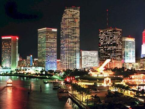 Los residentes de Key Byscane, en Florida disfrutan de una vista diurna...
