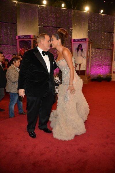 En otras alfombras de Premio Lo Nuestro han habido grandes besos.