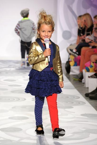 ¿Quién dice que los niños no pueden estar a la moda? La top model Heidi...