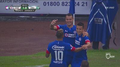 Milton Caraglio abre el marcador para Cruz Azul sobre Zacatepec