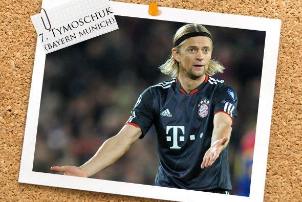 Regresando a la Bundesliga, el ucraniano Anatoliy Tymoschuk logró un dob...