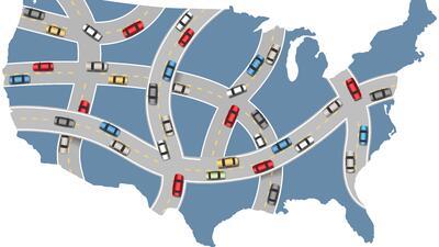 Estos son los 10 peores estados para manejar en Estados Unidos