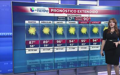 Temperaturas agradables al norte de California