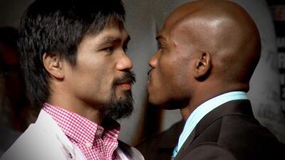 Manny Pacquiao y Timothy Bradley se vieron las caras por primera vez en...