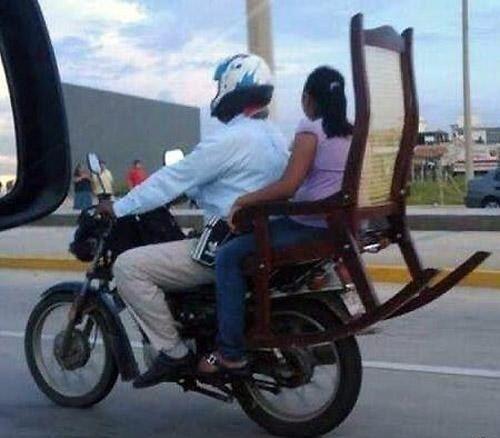 No sé pero noto esto muy peligroso. En realidad tenían que usar la sill...