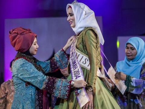 El mundo árabe coronó a la bella Ben Guefrache Fatma de T&...