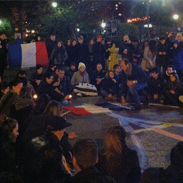 Estudiantes franceses en Union Square