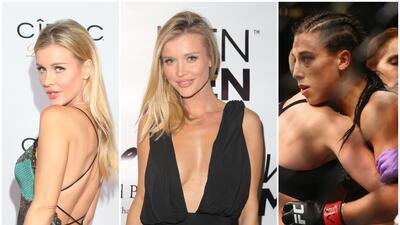 La sensual Joanna Krupa está con Jędrzejczyk en la pelea contra Namajunas