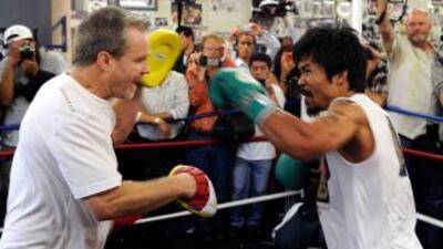 Manny Pacquiao está a días de su primer combate del 2011.