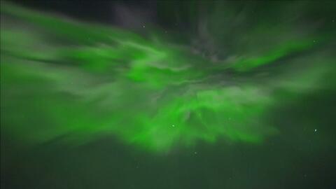 Impresionante aurora boreal se desplegó al norte de Finlandia