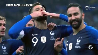 ¡GOOOL! Olivier Giroud anota para France