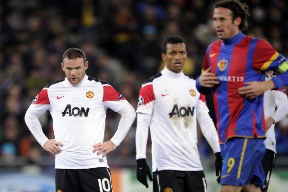 El United no podía creer lo que sucedía en el campo.