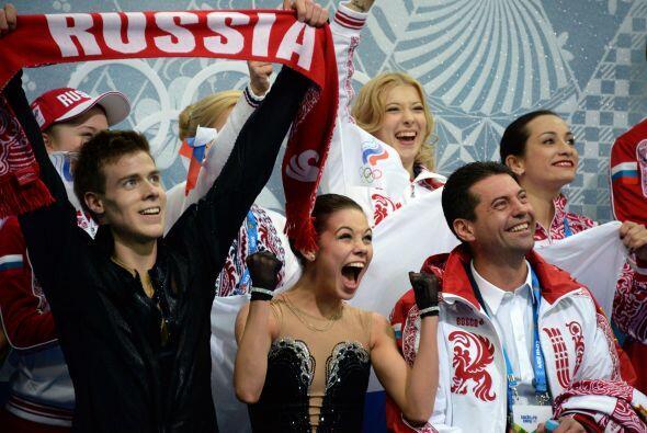 Los rusos se aseguraron el primer oro por equipos de la historia ante de...
