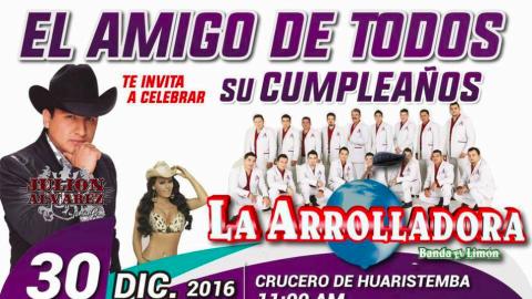 """Con esta imagen el alcalde Hilario """"Layín"""" Ramírez promueve su..."""