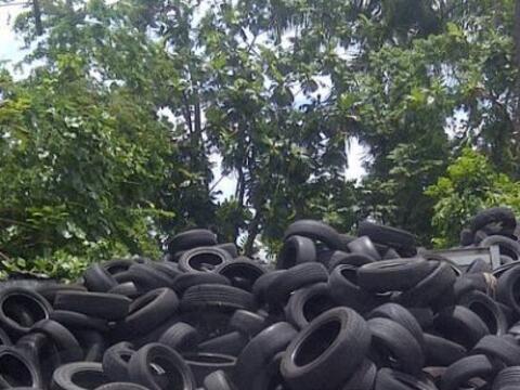 En Puerto Rico hay cerca de 2 millones de gomas a la interperie  esperan...