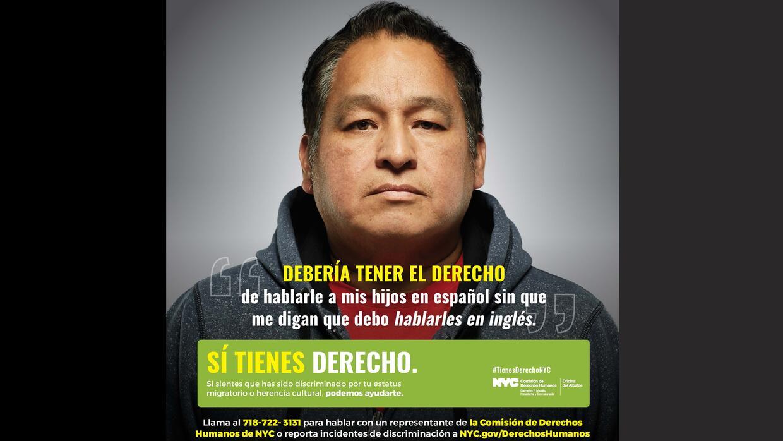 """""""Debería tener el derecho de hablarle a mis hijos en español sin qu..."""