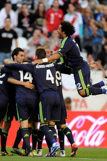 El astro portugués convirtió el 2-0 luego de cobrar un penalti.