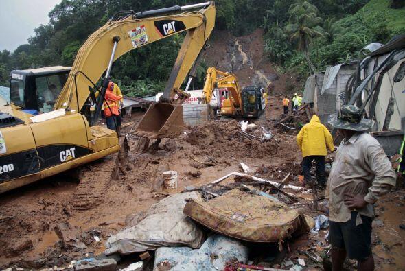Las precipitaciones han generado derrumbes, inundaciones y deslizamiento...