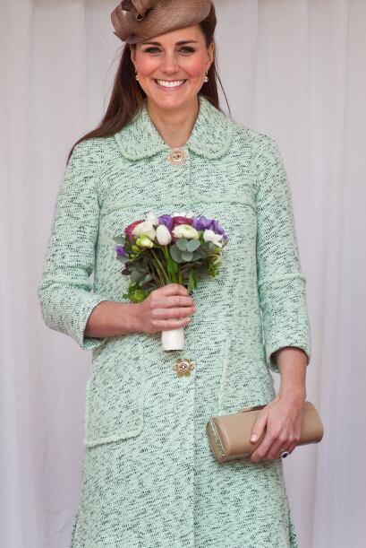 21 de abril de 2013 La duquesa observa una marcha durante National Revie...