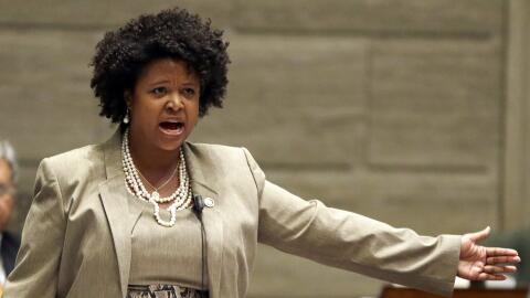 La senadora estatal María Cappelle-Nadal en una intervención en el Capit...
