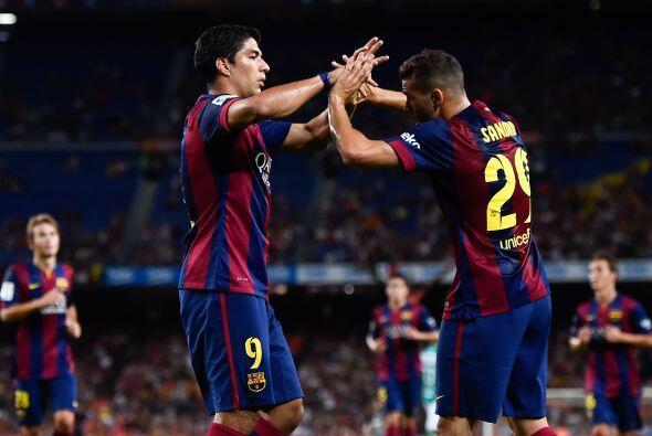Suárez felicitó a su nuevo compañero.