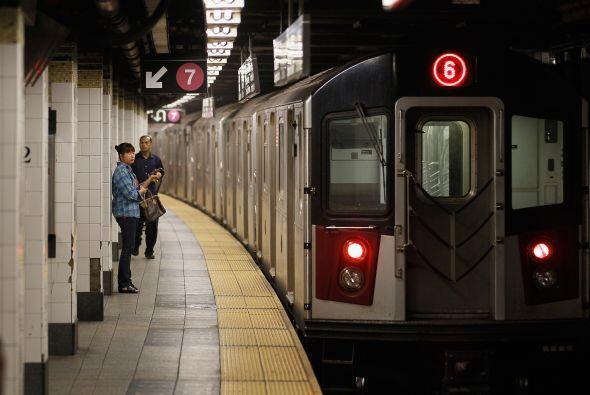 El sistema de trenes subterráneos y autobuses de la ciudad de Nueva York...
