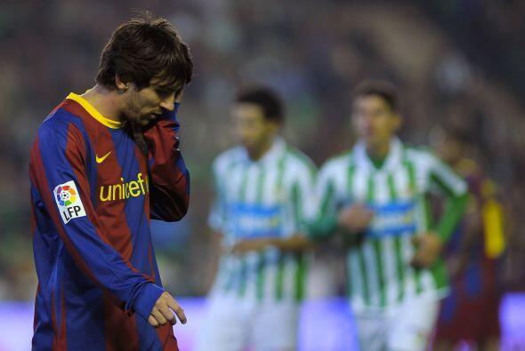 Más tarde el propio Messi falló un penalti de terrible modo.