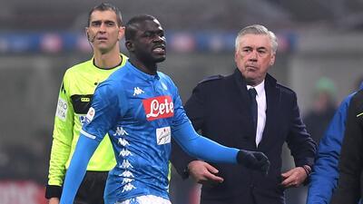 En fotos: el mundo del fútbol condenó el racismo contra Koulibaly en Milán