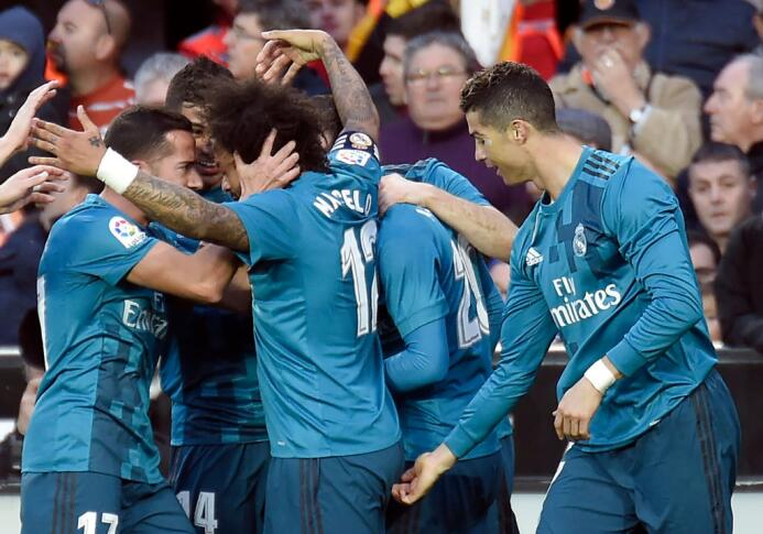 Y Cristiano Ronaldo festejó con Marcelo de una forma muy peculiar.