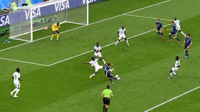 Nagatomo controló de forma precisa y Takashi Inui definió al palo para el 1-1 ante Senegal