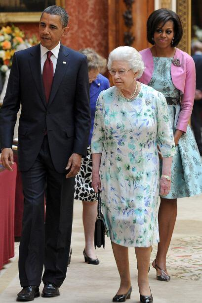 Antes de jugar al ping pong, Obama visitó el Palacio de Buckingham, dond...