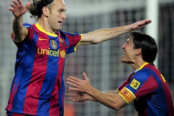El argentino Gabriel Milito también marcó su gol, pero no todo era alegría.