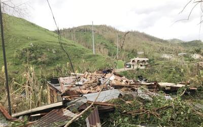Un aspecto de la destrucción sufrida en Cayey.