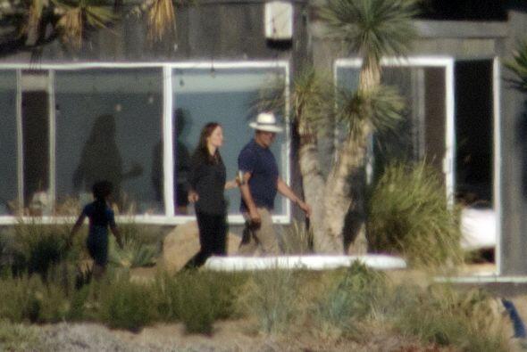 Y por fin apareció Angelina.
