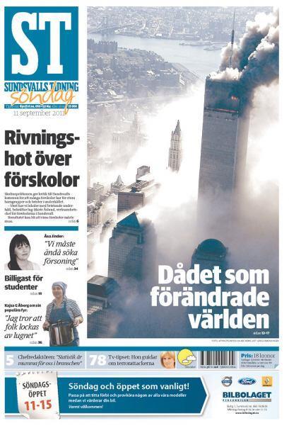 Cortesía del diario Sundsvalls Tidning de Suecia, vía Newseum.