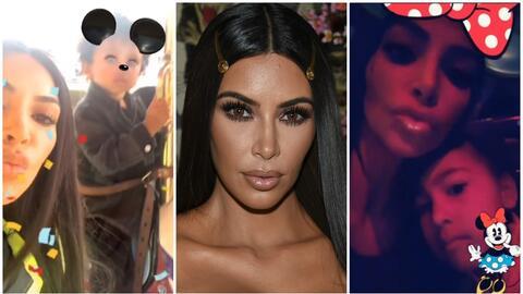 Kim Kardashian y sus hijos North y Saint West