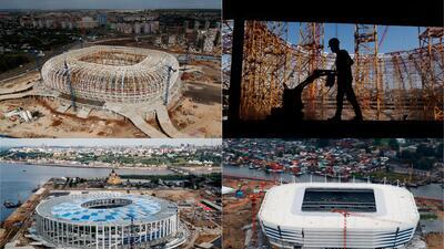¿Alcanzarán? Así lucen los estadios de Rusia a menos de un año del comienzo del Mundial