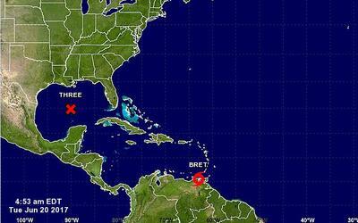 La zona de la costa del Golfo en Luisiana en alerta por tormenta tropica...
