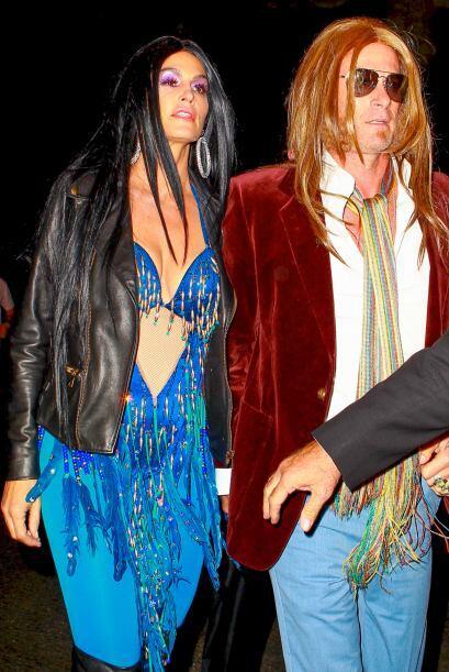 Con sus disfraces de Gregg Allman y Cher lucían muy divertidos.