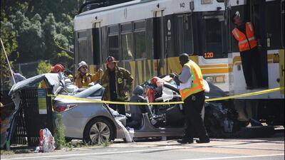 Accidente de tren en California deja 21 heridos