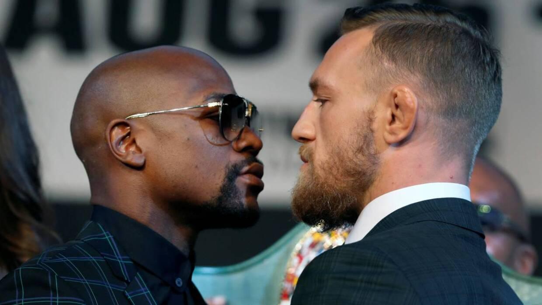 Mayweather y McGregor sacaron chispas en el 'face to face'