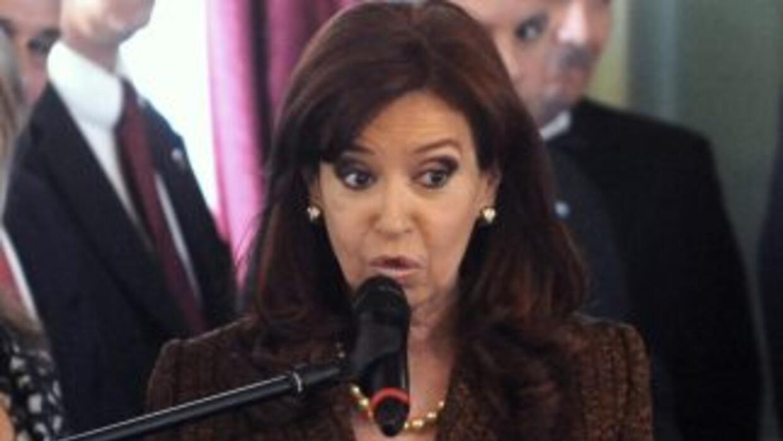 La presidenta argentina Cristina Fernández viuda de Kirchner.