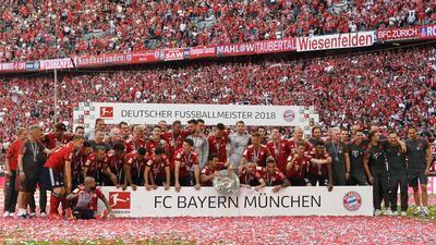 Así fue el festejo del Bayern Munich como campeón de la Bundesliga 2017-2018