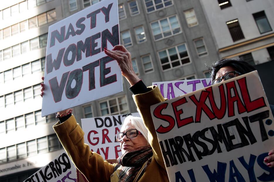 """""""Nasty women"""" (Mujeres desagradables) hacen uso de la forma en..."""