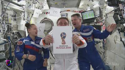 Rusia 2018 presentó logo y dio un salto al espacio