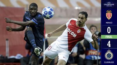 Ni con Thierry Henry arranca: Mónaco cae humillado en casa ante el Brujas y queda último en el Grupo A