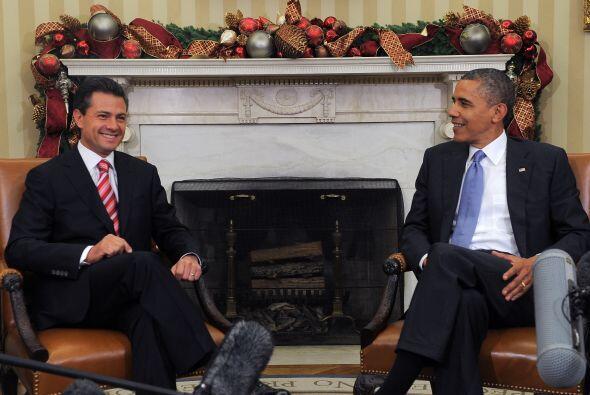Al iniciar su encuentro con el presidente electo de México, Enrique Peña...