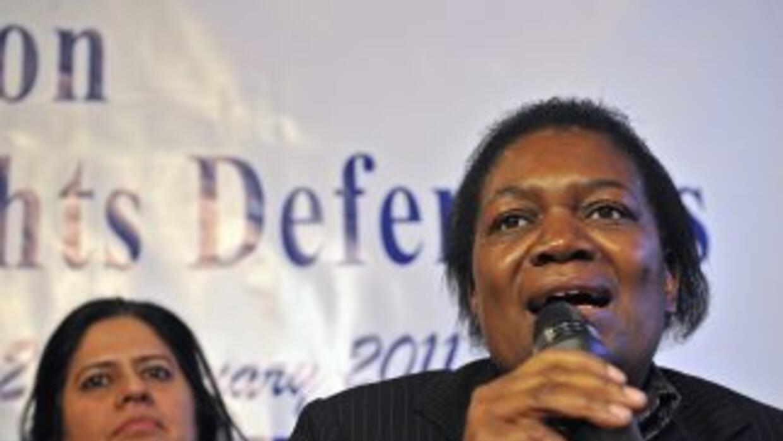 Margaret Sekaggya,relatora de la ONU sobre la situación de los defensor...
