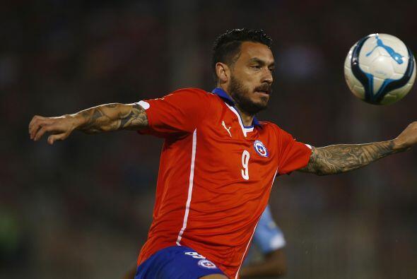 9.- Mauricio Pinilla - Apenas disputó los últimos minutos del juego, poc...