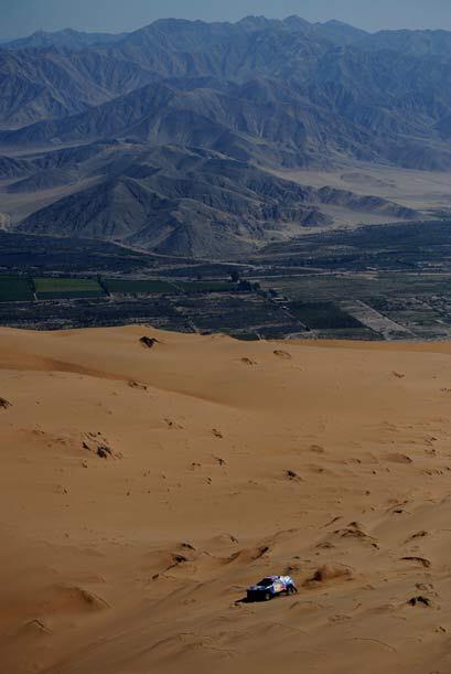 Los competidores disfrutarán de hermosos paisajes como las dunas del des...